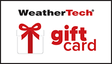Image of the front of a WeatherTech Gift Card
